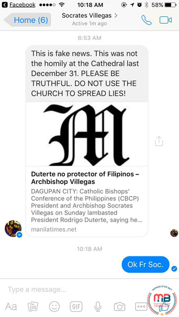 Archbishop Soc Villegas New Year Homily