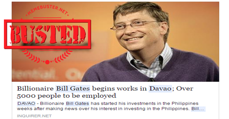 Bill Gates Started Working in Davao
