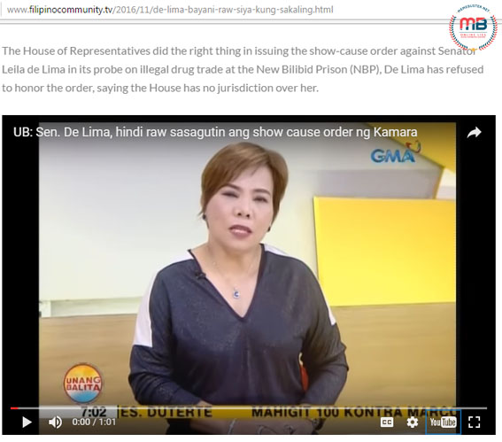 De Lima Claimed Hero if Gets Killed