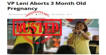 Busted: Fake news on Robredo's pregnancy and abortion continue to spread