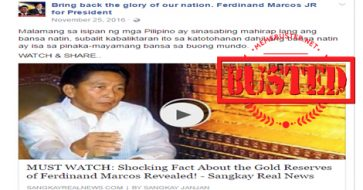 Busted: Netizen debunks claim of Marcos gold reserves and how his supporters claimed it isn't ill-gotten wealth