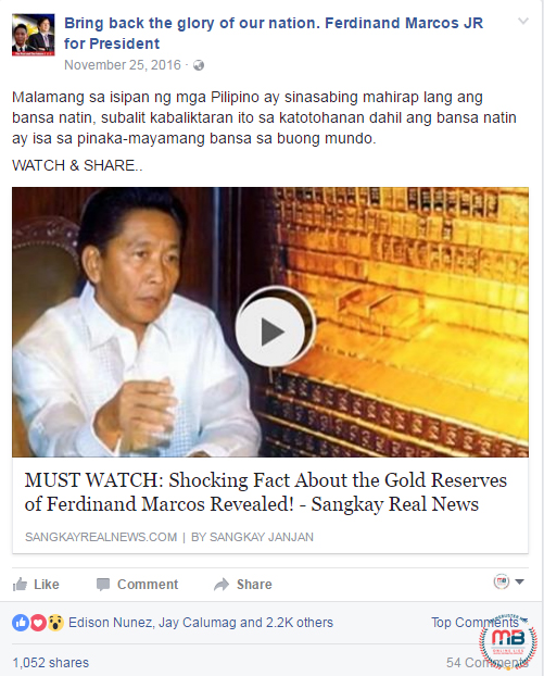 Marcos Gold Reserves