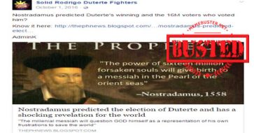 Busted: Article about Nostradamus predicting Duterte's election, calling him a 'messiah' is a SATIRICAL piece