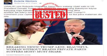 Busted: Trump called Robredo 'beautiful woman without brains'? Fake new site made this up