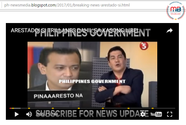 Trillanes Arrested Due to Libel