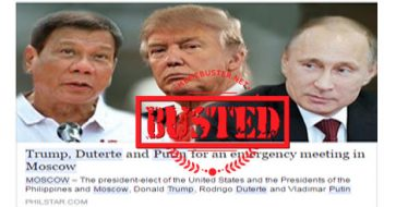 Busted: Trump, Duterte, Putin met in Moscow? It's a hoax!