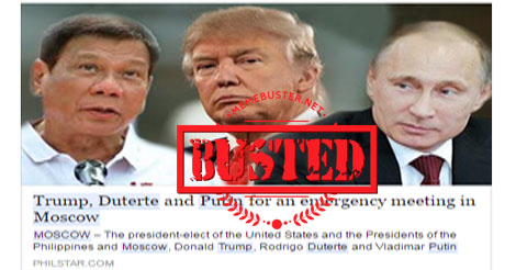 Trump Duterte Putin in Moscow
