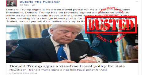 busted did trump sign visa free policy for asia no he didn t. Black Bedroom Furniture Sets. Home Design Ideas