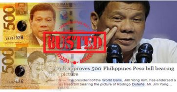 Busted: News about World Bank approving P500 with Duterte's photo is a fake!