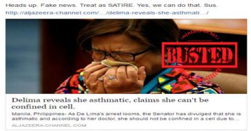 Busted: De Lima claimed to be asthmatic hence can't be confined in cell? It's fake news!