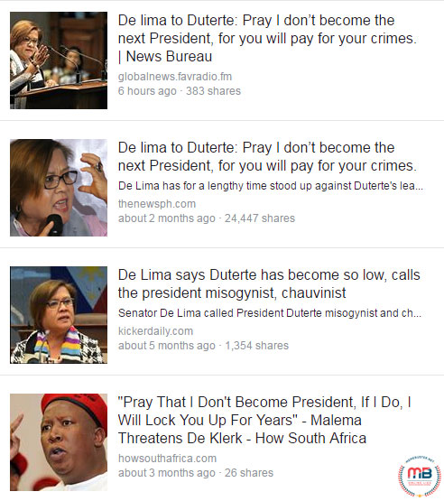 De Lima threaten Duterte