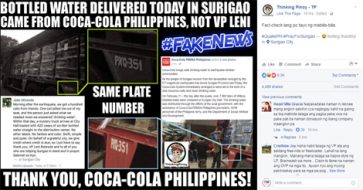 Busted: Pro-Duterte bloggers slam Robredo's office for sharing netizen's credit grabbing over drinking water delivery to Surigao