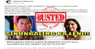 Busted: Robredo nagwala? Blog used misleading title to sell content