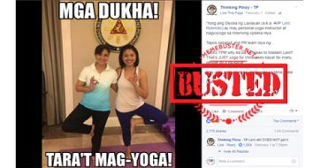 Busted: Netizen scores blogger Thinking Pinoy for twisting facts about Robredo's yoga photo
