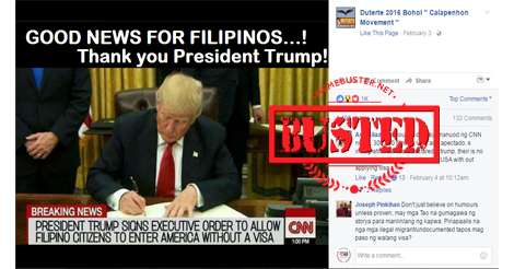 Trump EO Filipinos US without Visa