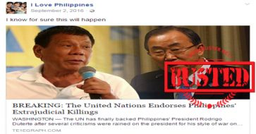 Busted:  UN endorsed extrajudicial killings in PH? Some netizens bought this LIE!