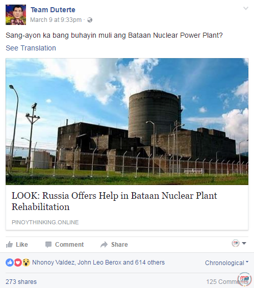Russia offered help Power Plant rehabilitation