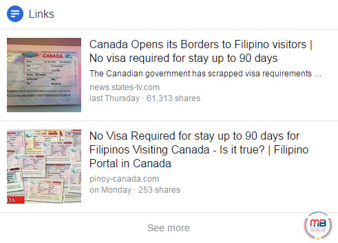 Canada opened borders to Filipinos