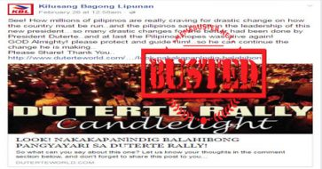 Busted: Photo used to show pro-Duterte rally's candle-light vigil is Guinness World Records feat in Iloilo