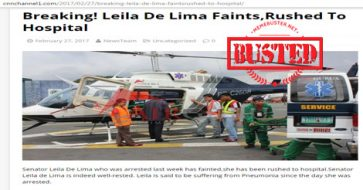 Busted: Was De Lima rushed to hospital after fainting? She wasn't! It's fake news!
