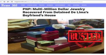 Busted: Multi-million dollars' worth of jewelry found in De Lima's boyfriend's house? Fake news!