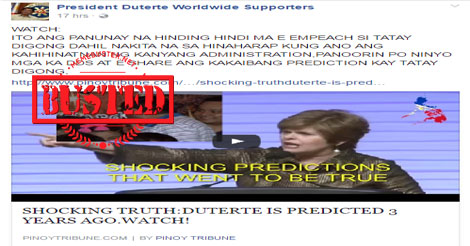 Busted: Did 'prophet' predict Duterte 3 years ago? Nope