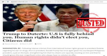 Busted: Trump said 'US is fully behind' Duterte vs. human rights groups? It's yet another fake story!