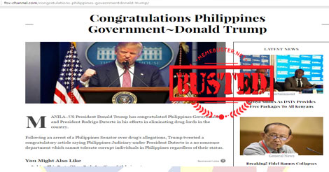 Trump congratulated PH gov't