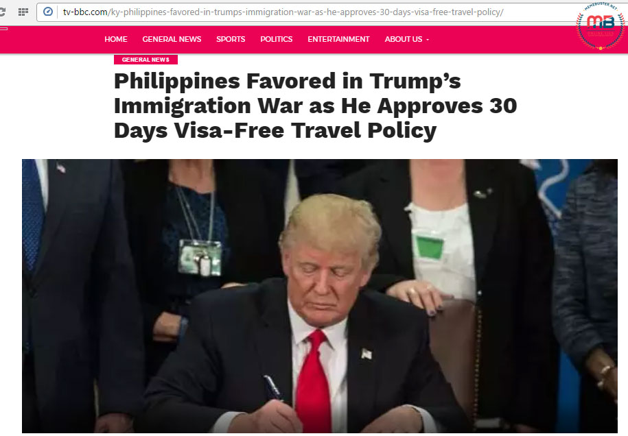 Trump favored PH in his immigration war