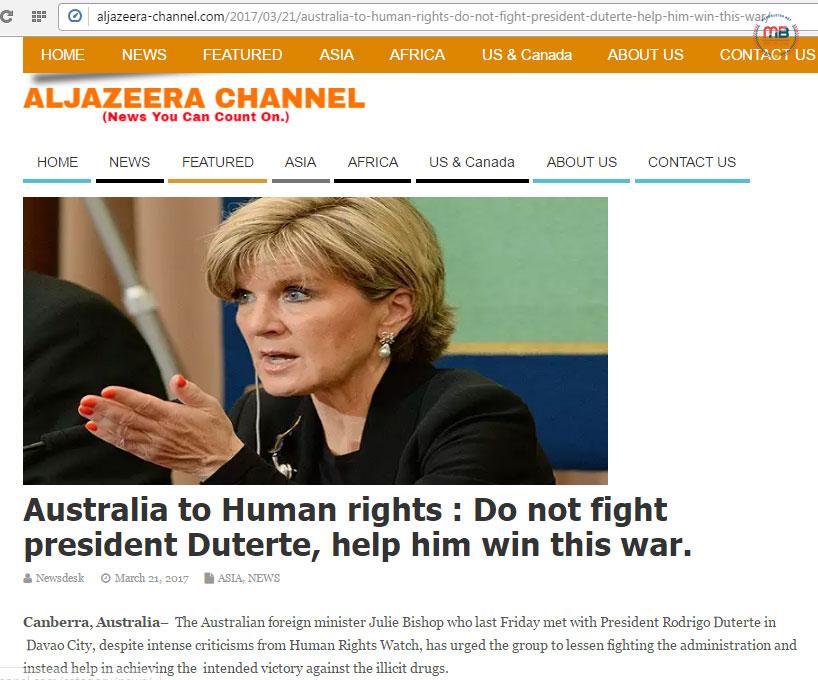 Australian FM told human rights