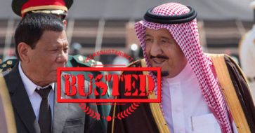Busted: Duterte said Saudi Arabia provides 80% of PH oil supply, but his figures were wrong!