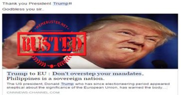 Busted: Trump told EU not to overstep its mandates after telling PH to release De Lima? Hoax alert!