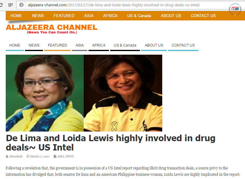 Loida Lewis involved in drugs