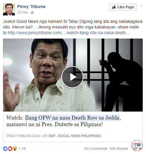 Duterte will bring home OFWs