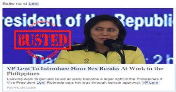 Busted: Robredo to introduce s*x breaks at work? Ridiculous hoax but some netizens still believed it!