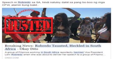 Busted: Robredo taunted, heckled in South Africa? It's another fake news!