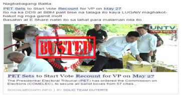 Busted: VP vote recount set on May 27? Hoax but netizens believed it, slammed PET for delay