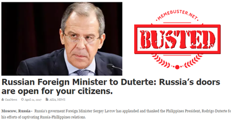 Russia's doors are open to Filipinos
