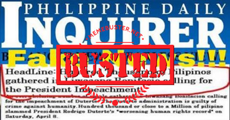 Inquirer wrote fake news