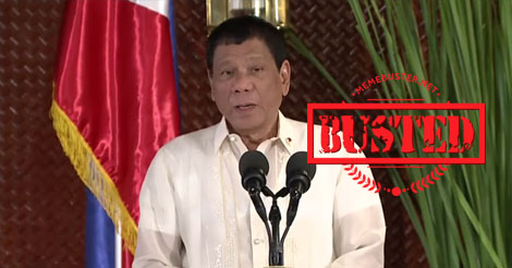Busted: President Duterte said his salary is P130,000, but it is actually much more than that