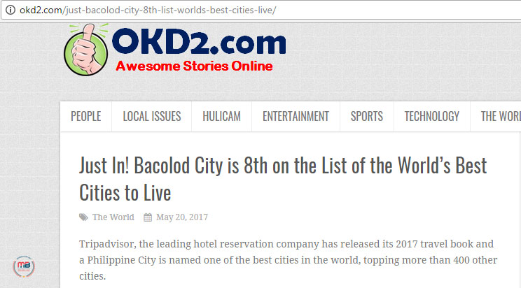 busted fake news site claims that bacolod was 8th on the