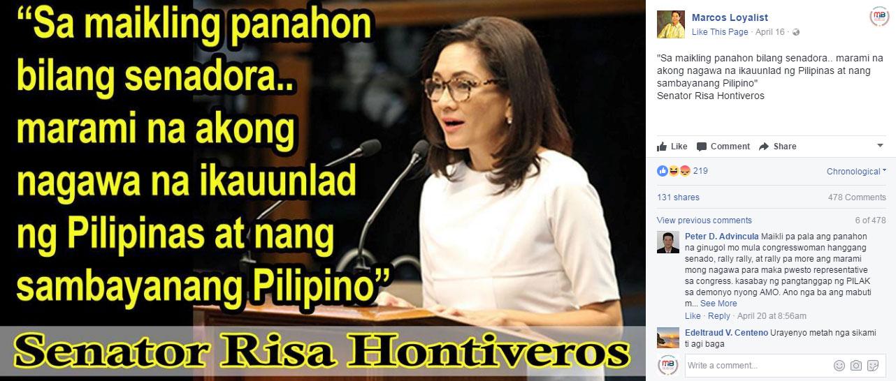 Senator Hontiveros