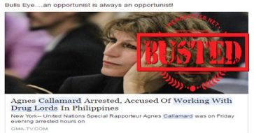 Busted: UN rapporteur Agnes Callamard accused of working with drug lords in PH? Fake news!