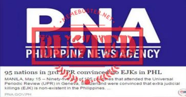 Busted: 95 UN member states convinced no EJKs in PH? PNA, Asec Lorraine Badoy, Asec Mocha Uson share fake news