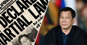 What does the 1987 PH Constitution say about martial law?