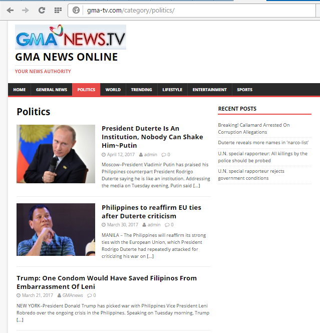 GMA News issued a public advisory