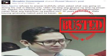 Busted: Sen. Bam Aquino made 'no comment' to suspicions about Maute meeting before Marawi clash? Not true!
