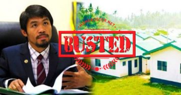 Busted: FB page is deceiving people using Pacquiao's name, claims senator is offering free housing