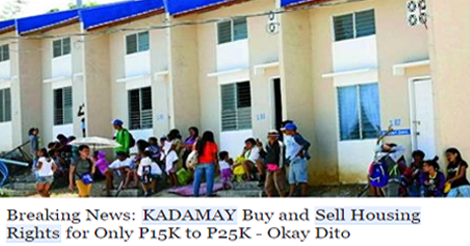 Kadamay members selling housing