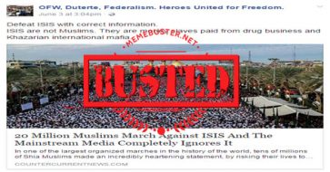 Busted: 20 million Muslims marched vs. ISIS but the media ignored it? It's not exactly true!
